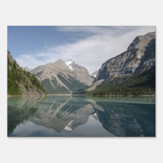 Kinney Lake and Mount Whitehorn near Mount Robson Sign