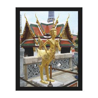 Kinnon-Wat Phra Kaew, impresión Bangkok-Envuelta d Lienzo Envuelto Para Galerías
