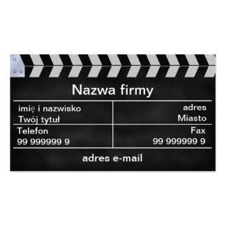 kino clapperboard Double-Sided standard business cards (Pack of 100)