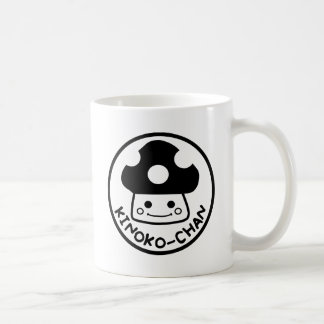 Kinoko-chan logo BLACK Coffee Mug