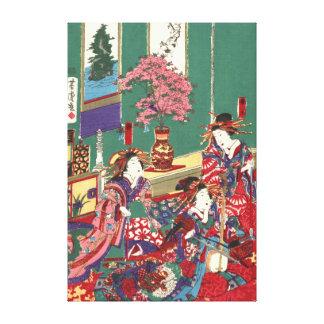 Kinpeiro nuevo Yoshiwara 1871 dejado Impresiones De Lienzo