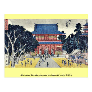 Kinryuzan Temple, Asakusa by Ando, Hiroshige Ukiyo Post Card