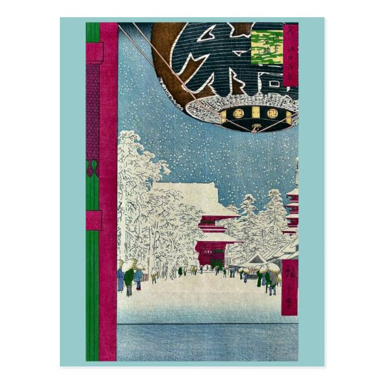 Kinryuzan Temple, Asakusa by Ando, Hiroshige Ukiyo Postcard