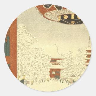 Kinryūzan Temple, Asakusa Classic Round Sticker