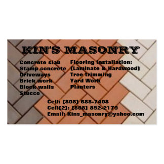 Kin's_masonry Business Card