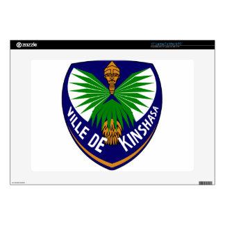"Kinshasa_-_Coat_of_arms 15"" Laptop Skin"