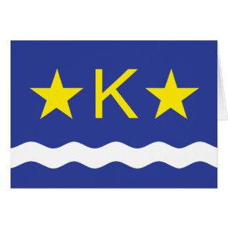 Kinshasha, Democratic Republic of the Congo flag Greeting Card