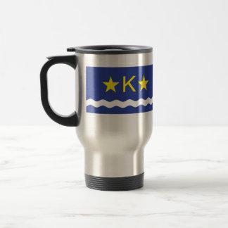 Kinshasha, Democratic Republic of the Congo flag 15 Oz Stainless Steel Travel Mug