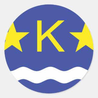 Kinshasha, Democratic Republic of the Congo flag Classic Round Sticker