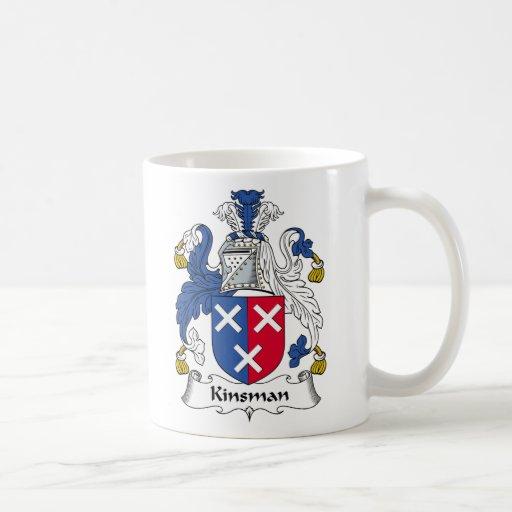 Kinsman Family Crest Classic White Coffee Mug