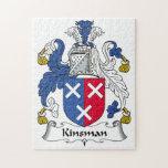 Kinsman Family Crest Jigsaw Puzzles