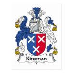 Kinsman Family Crest Postcard