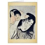 Kintaro grabbs Yamauba's hair by Kitagawa,Utamaro Cards