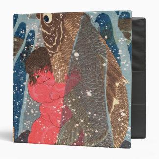 Kintoki Swims up the Waterfall Vinyl Binder