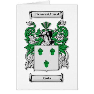 Kinzler Coat of Arms Card