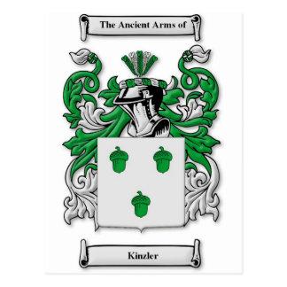 Kinzler Coat of Arms Postcard