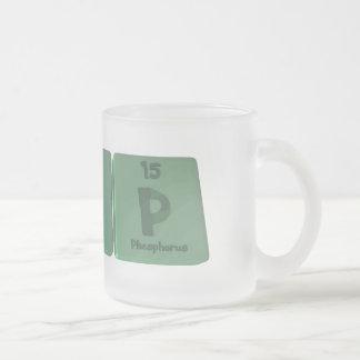 Kip as Potassium Iodine Phosporus Frosted Glass Coffee Mug