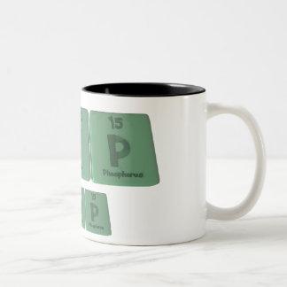 Kip as Potassium Iodine Phosporus Two-Tone Coffee Mug