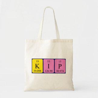 Kip periodic table name tote bag