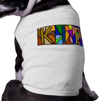 KIP ~ PERSONALIZED BIG LETTERS PET-WARE TEE SHIRT