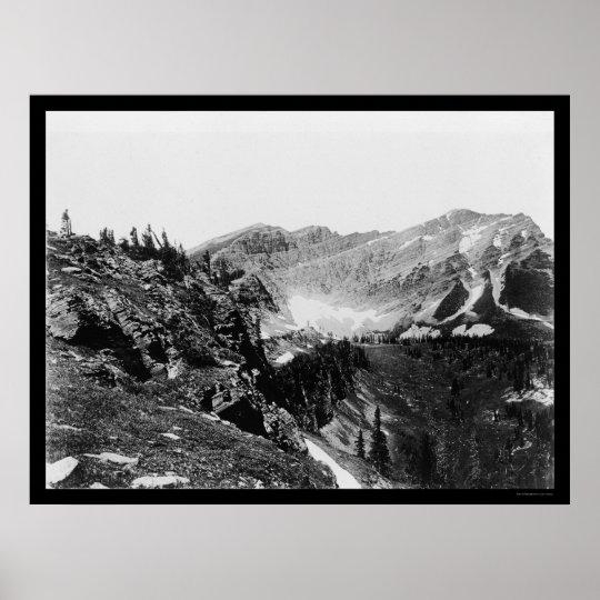 Kipps Summit Glacier National Park 1925 Poster