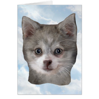 Kippy Blank with Clouds - Vertical Greeting Card