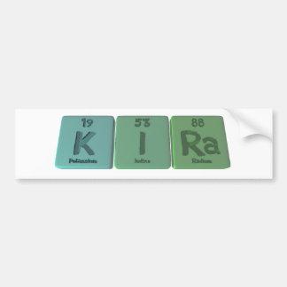 Kira as Potassium Iodine Radium Bumper Sticker