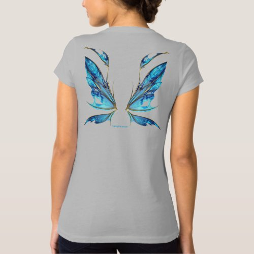 Kira Fairy Winged Back Shirt in Ocean