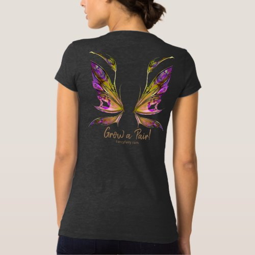 Kira Grow a Pair Fairy Wings Back in Autumn T T_Shirt