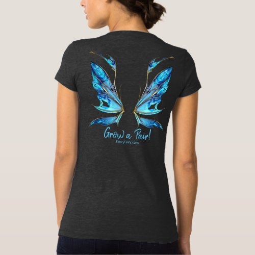 Kira Grow a Pair Fairy Wings Back in Teal T_Shirt