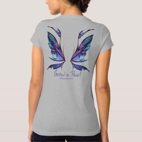 Kira Grow a Pair Fairy Wings Back Shirt Purple