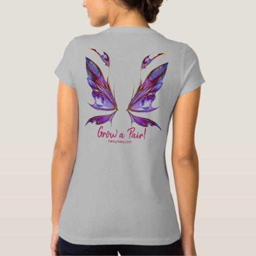 Kira Grow a Pair Fairy Wings Back Shirt Wine
