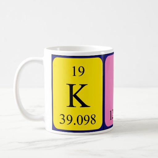 Kira periodic table name mug