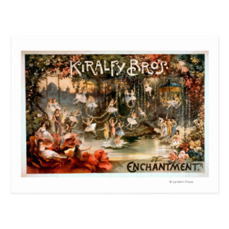 Kiralfy Brothers Enchantment Theatrical Poster Postcard