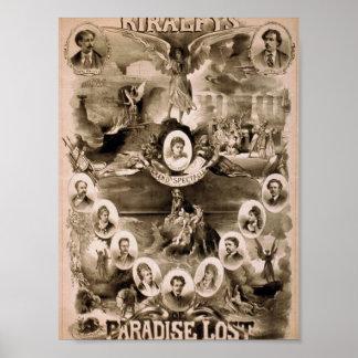 """Kiralfy, teatro retro perdido """"paraíso"""" poster"""