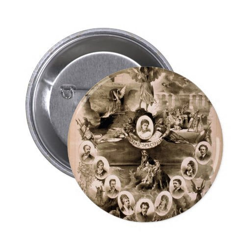 Kiralfy's, 'Paradise Lost' Retro Theater 2 Inch Round Button