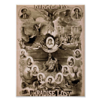 Kiralfy's, 'Paradise Lost' Retro Theater Poster