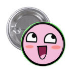 kirby awesome pinback button