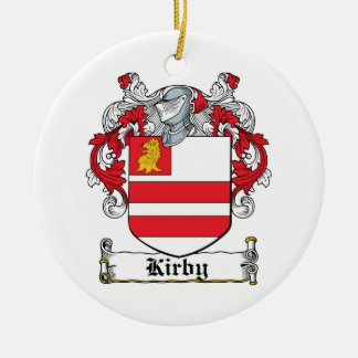 Kirby Family Crest Ceramic Ornament