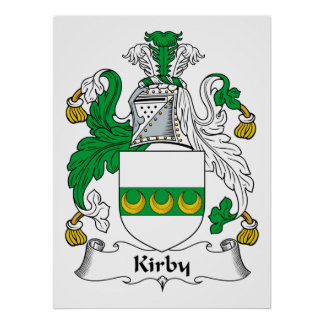 Kirby Family Crest Poster