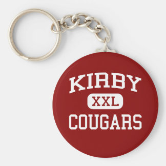 Kirby - pumas - escuela secundaria - Houston Tejas Llavero Redondo Tipo Pin