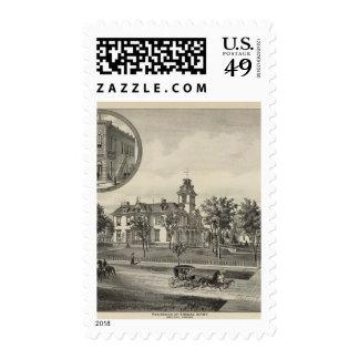 Kirby residence and Bank, Abilene, Kansas Stamps