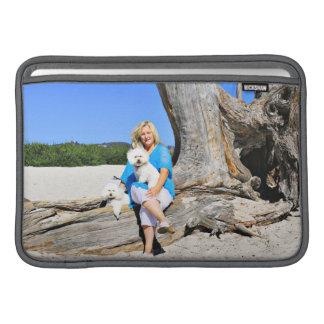 Kirby Shelby - Poodles on Carmel Beach MacBook Air Sleeve