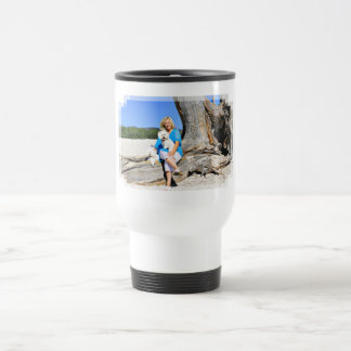 Kirby Shelby - Poodles on Carmel Beach Travel Mug