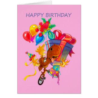 Kirby the Moose Vermoosin' Birthday Card