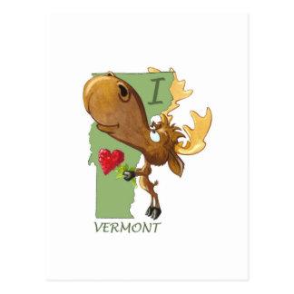 "Kirby the Moose Vermoosin' ""I Heart Vermont"" Postcard"