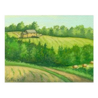 Kirby Vermont Hay Field Postcard