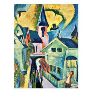 Kirchner - Konigstein con la iglesia roja Postal