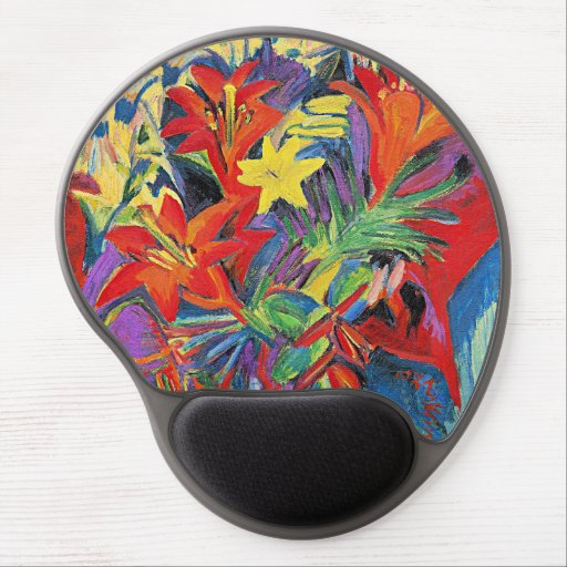 Kirchner - Still Life with Lilies Gel Mouse Pad