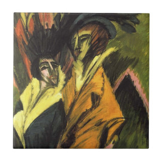 Kirchner: Two Women in the Street, Ceramic Tile